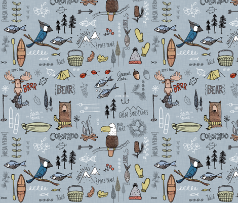 Colorado - blue fabric by mulberry_tree on Spoonflower - custom fabric