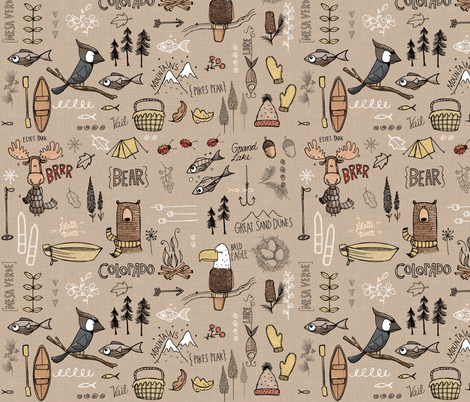 Colorado  - brown fabric by mulberry_tree on Spoonflower - custom fabric