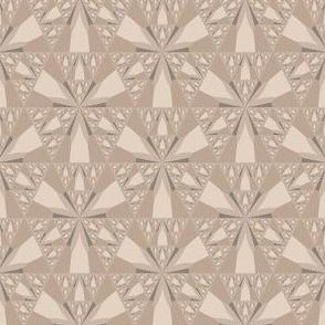 Beige Sierpinski Triangle Fractal