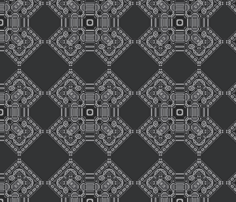Charcoal Embroidery Fractal fabric by gingezel on Spoonflower - custom fabric