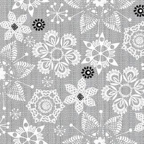 lace snowflakes