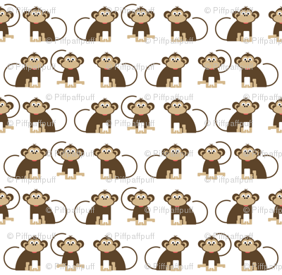 Monkeys // cheeky monkey kids design jungle animals nursery