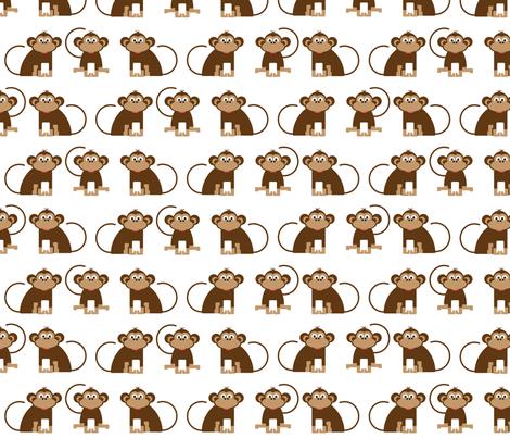 Monkeys // cheeky monkey kids design jungle animals nursery fabric by robertobrienillustrations on Spoonflower - custom fabric