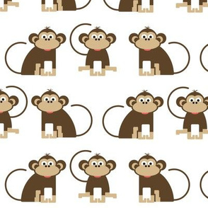 Monkeys // cheeky monkey kids design jungle animals nursery