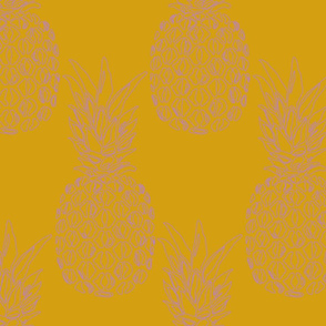 pineapple purple on mustard