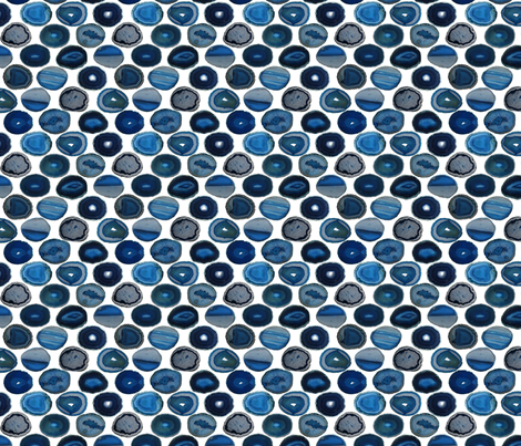 SMALL BLUE WHITE AGATE SLICES fabric by emily_alcorn on Spoonflower - custom fabric