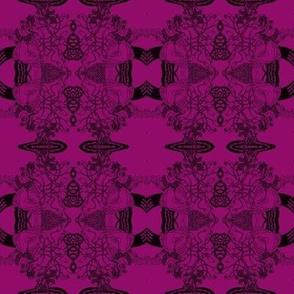 Healing Arts Heal Hearts, Black Lace on Purple, HAP4  Small