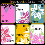 Joy To The World Gift Tags