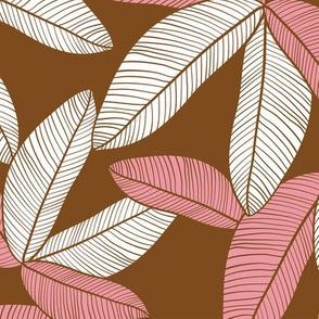 Plantation Leaves Chocolate Rose