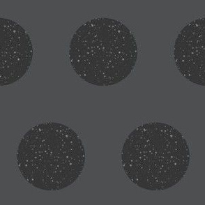 Charcoal Polka Dot with Star Field