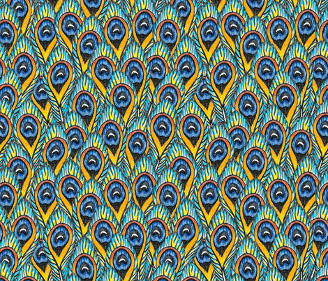 Peacock feathers #1 fabric by fridajosefin on Spoonflower - custom fabric