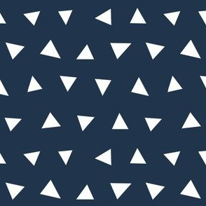 navy blue triangles, triangle, triangle fabrics baby nursery design coordinating fabric