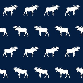 navy blue  moose, moose fabric, bear print, nursery design, nursery print, boys print