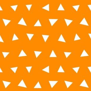 orange triangles, triangle, triangle fabrics baby nursery design coordinating fabric