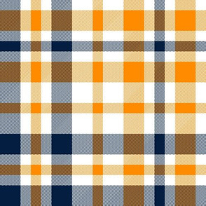 navy and orange plaid, buffalo plaid, check, tartan,