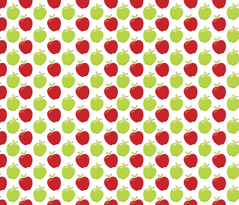 Apple Toss Red Lime fabric by snapdragonandfinn on Spoonflower - custom fabric