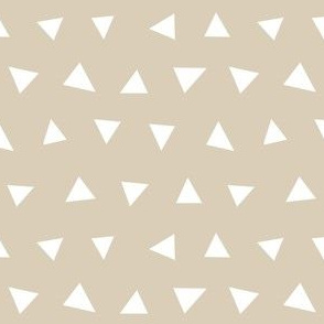 khaki triangles, triangle, triangle fabrics baby nursery design coordinating fabric