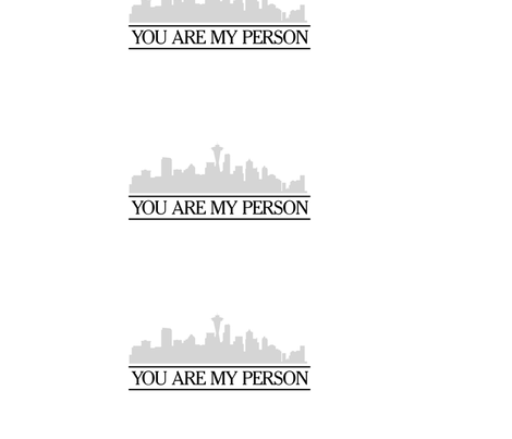 You Are My Person - Greys fabric by infiknit_fabrics on Spoonflower - custom fabric