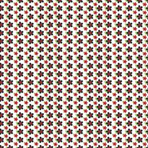 Ladybug Flowers Black
