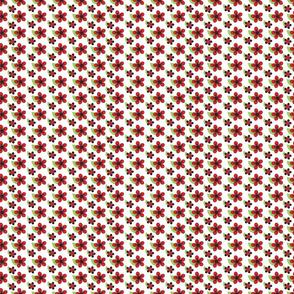Ladybug Flowers Red