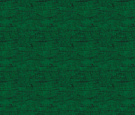 Jamie_Kalvestran_Woodland_Holiday_Crackle-Green fabric by scrap-bags on Spoonflower - custom fabric
