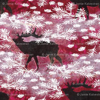 Jamie_Kalvestran_Woodland_Holiday_ElkPrint-32x32