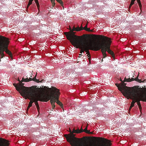 Jamie_Kalvestran_Woodland_Holiday_ElkPrint-32x32