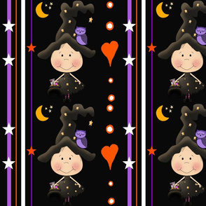 Halloween Littlle Witch Happy Stripe