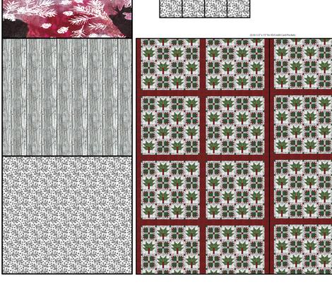 Easy_Zip_Wallet_Woodland_Holiday_Jamie_Kalvestran fabric by scrap-bags on Spoonflower - custom fabric