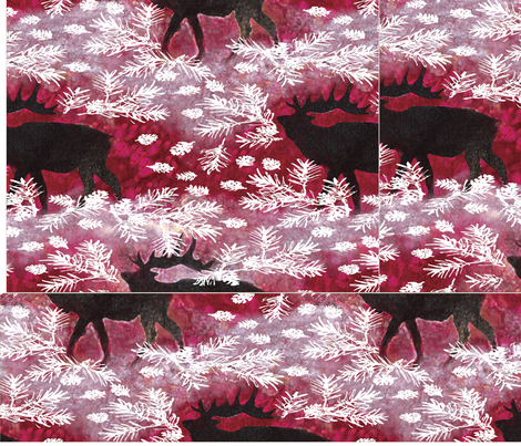 Triple_Woodland_Holiday_Jamie_Kalvestran_Scrap-bags fabric by scrap-bags on Spoonflower - custom fabric