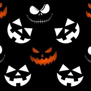 Jack O Lantern Faces Pattern
