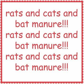 rats and cats and bat manure!!! framed