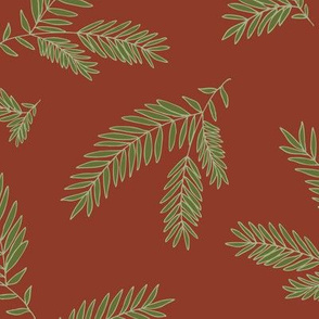 Pine Sprig - Dark CinnamonI & Ivy