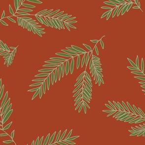 Pine Sprig - Cinnamon, Ivy