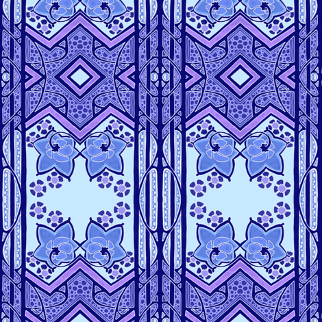 Bold Blue Yonder fabric by edsel2084 on Spoonflower - custom fabric