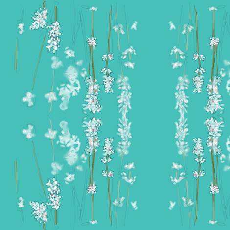 Blue Lavender fabric by rufkisneptune on Spoonflower - custom fabric