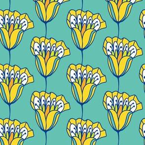 Blossom Stripes Teal