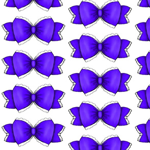 Purple Bow 1- White Background