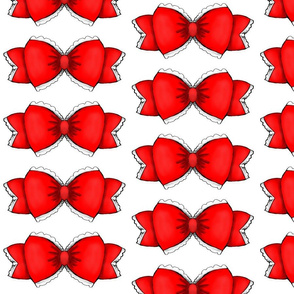 Red Bow 1- White Background