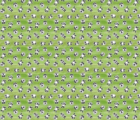 GreenSheep fabric by beckarahn on Spoonflower - custom fabric