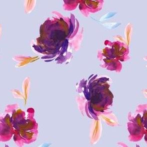 Royal Plum in Light Lilac