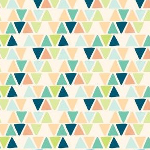 Multicolor Triangle Geometric Pattern