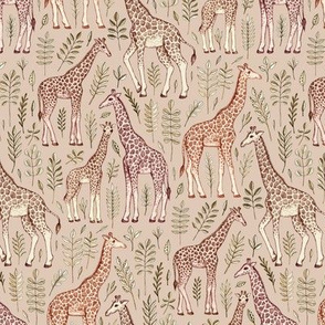 Little Giraffes in Tan and Brown