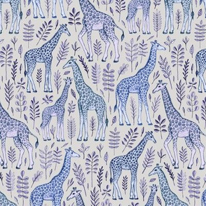Little Giraffes in Blue and Grey