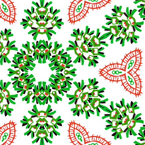 MidCentury Popworks ~ Christmas ~ Liza  fabric by peacoquettedesigns on Spoonflower - custom fabric