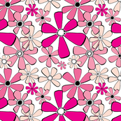 Groovy Pink Daisies