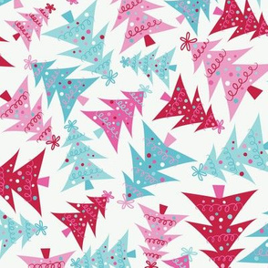 Crazy Christmas Trees-Pink