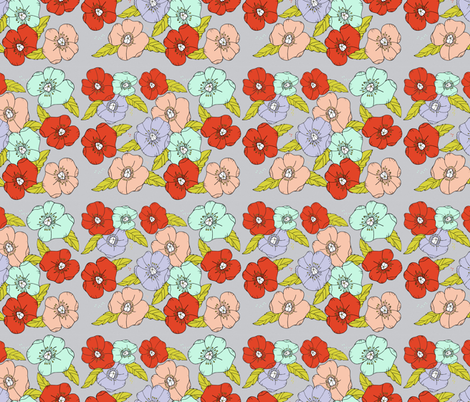 fun floral  fabric by atate on Spoonflower - custom fabric