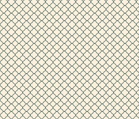 Lattice Pattern Charcoal on Cream fabric by gwendegroff on Spoonflower - custom fabric