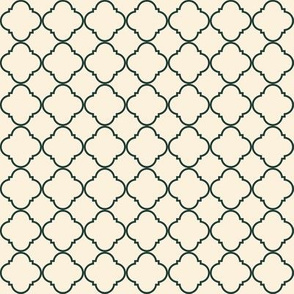 Lattice Pattern Charcoal on Cream
